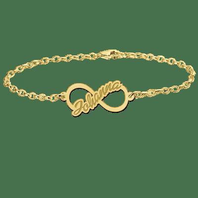 Gouden armband met infinity en naam Names4ever