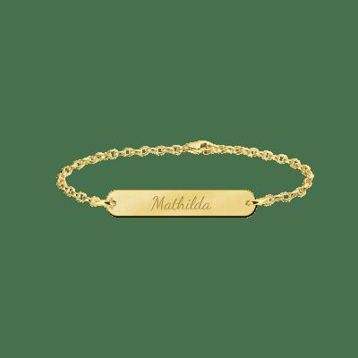 Gouden armband met naam bar Names4ever