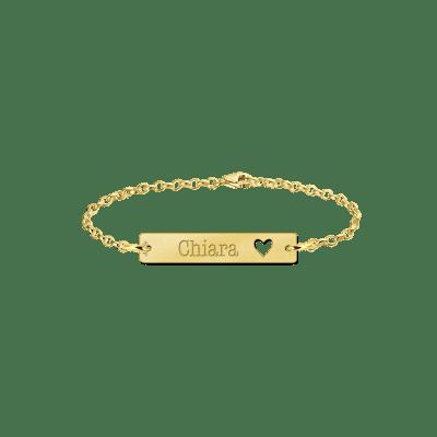Gouden armband met naam hart Names4ever