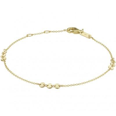Gouden armband met rondjes