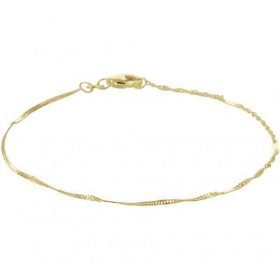 Gouden armband met Singaporeschakels