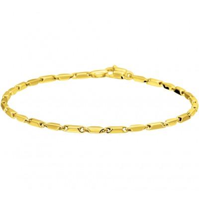 Gouden armband met staafjesschakels