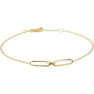 Gouden armband met twee schakels