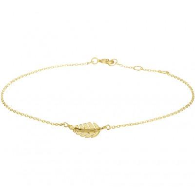 Gouden armband met veer