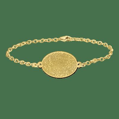 Gouden armband met vingerafdruk ovaal Names4ever