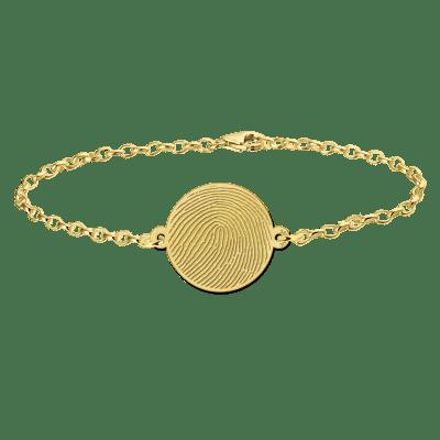 Gouden armband met vingerafdruk rondje Names4ever