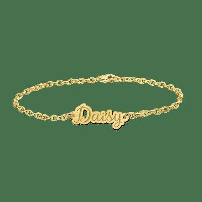 Gouden armband naam uitgesneden Names4ever