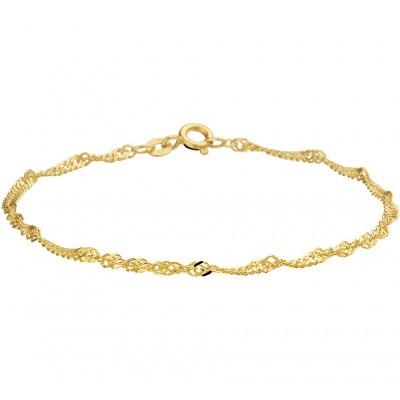 Gouden armband Singapore schakels 18 cm