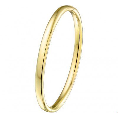 Gouden bangle massief 5 mm