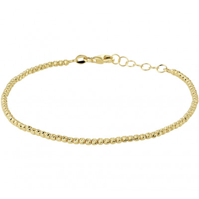 Gouden bolletjes armband 17-19 cm
