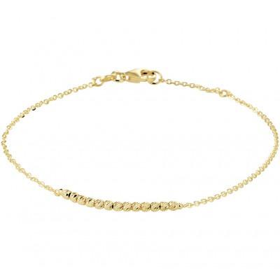 Gouden bolletjes armband 2 mm