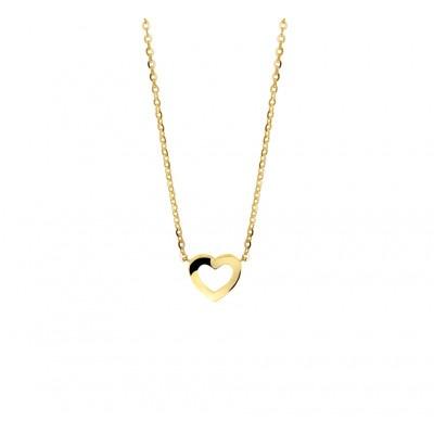 Gouden collier hartje