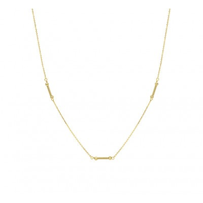 Gouden collier staafjes