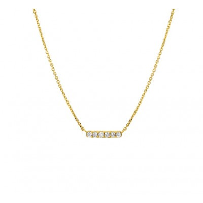 Gouden diamanten ketting