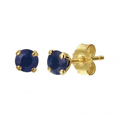 Gouden edelsteen oorbellen met saffier
