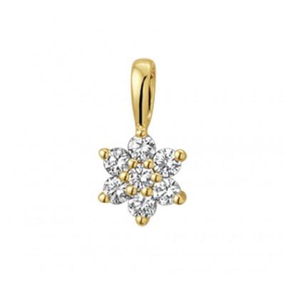 Gouden hanger met edelsteen diamant