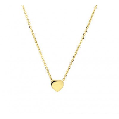 Gouden hartjes ketting met glanzend hart