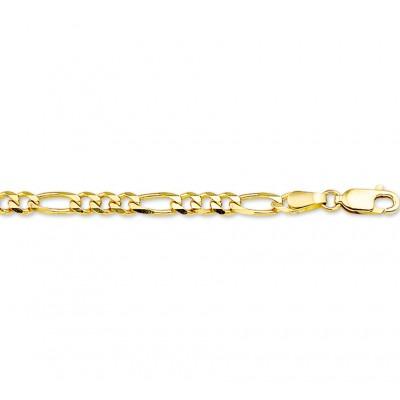 Gouden heren ketting figaro 3 mm