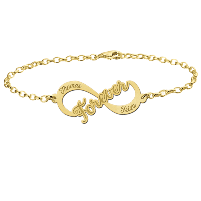 Gouden infinity armband forever Names4ever