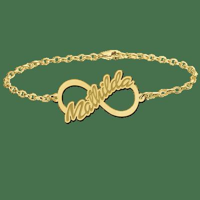 Gouden infinity armband met naam Names4ever
