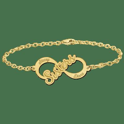 Gouden infinity armband Names4ever