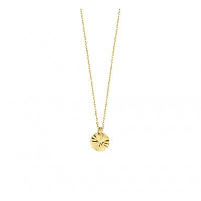 Gouden ketting met gediamanteerd rondje
