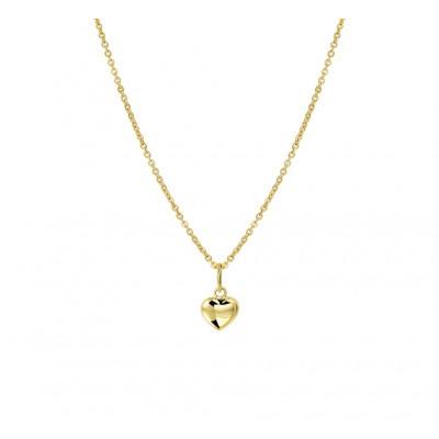 Gouden ketting met hanger hartje