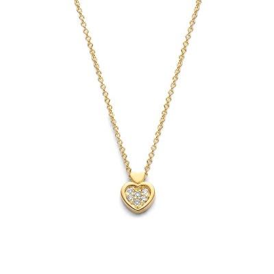 Gouden ketting met harthangertje en diamantjes