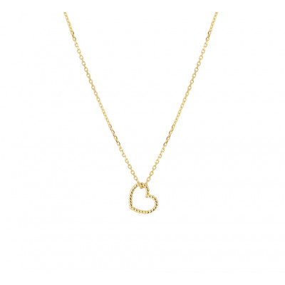 Gouden ketting met hartje twisted