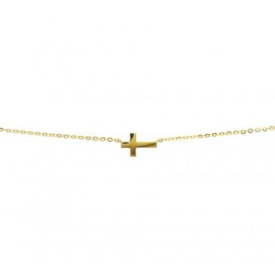 Gouden ketting met kruis
