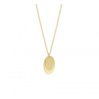 Gouden ketting met ovalen hanger