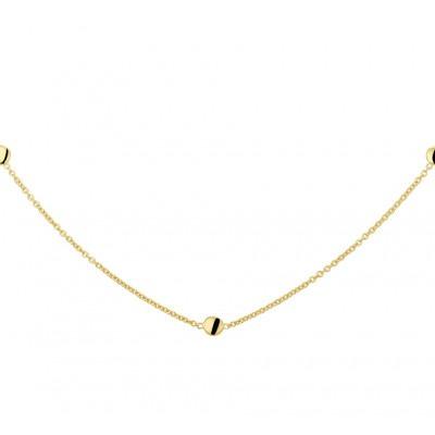 Gouden ketting met rondjes 4 mm