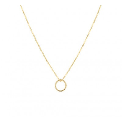 Gouden ketting rondje twisted