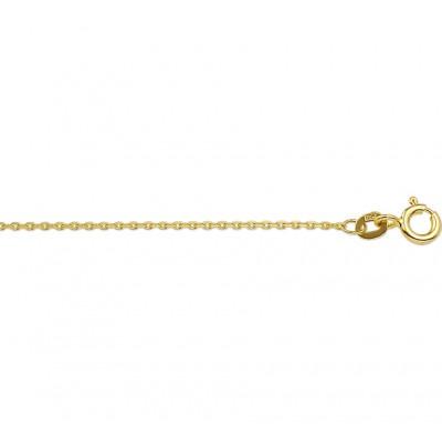 Gouden ketting zonder hanger anker geslepen 1 mm