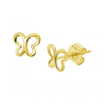 Gouden kinderoorbellen vlindertje