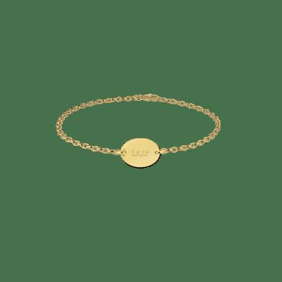 Gouden naam armband ovaal Names4ever