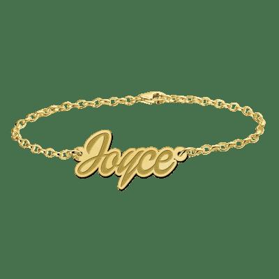 Gouden naam armband uitgesneden naam Names4ever