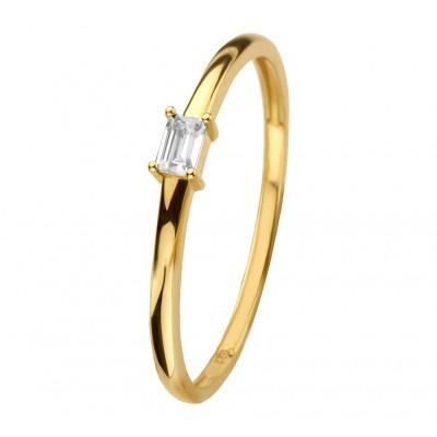Gouden ring 14 karaat met zirkonia