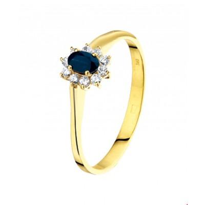 Gouden ring edelsteen saffier