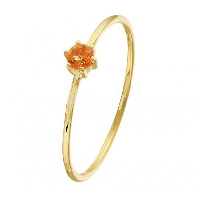 Gouden ring met edelsteen citrien steen