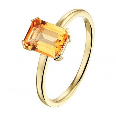 Gouden ring met edelsteen citrien