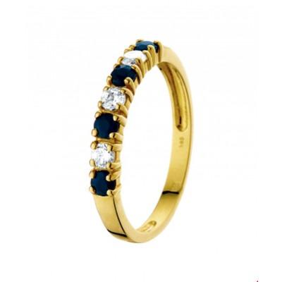 Gouden ring met edelsteen saffier