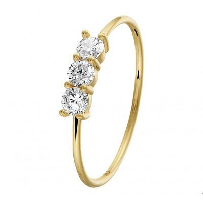 Gouden ring met mooie zirkonia