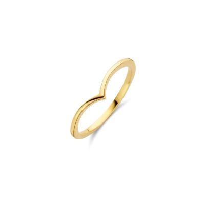 Gouden ring met v-boog