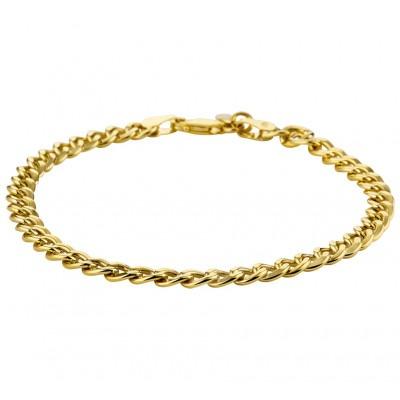 Gourmetschakel schakelarmband van goud 5 mm