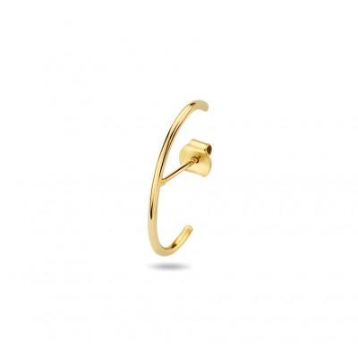 Halfronde gouden oorsteker