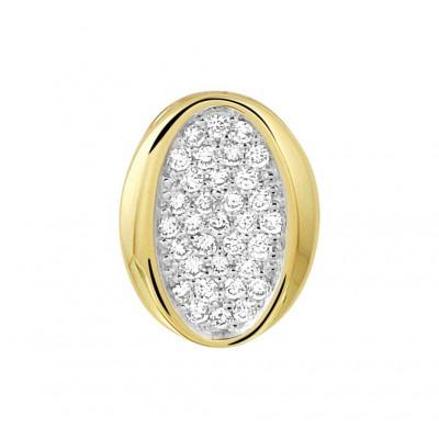 Hanger met edelsteen diamant in het goud