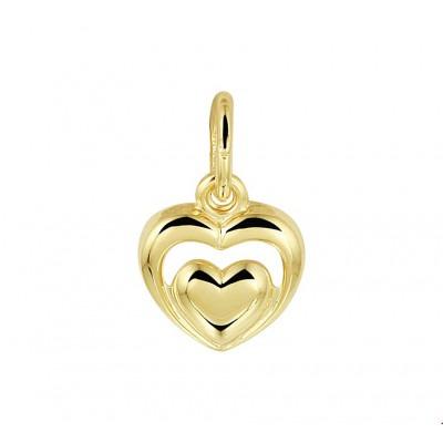 Hart hanger goud 8 mm bij 8 mm