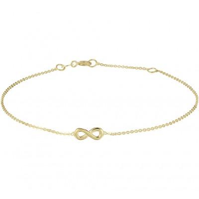 Infinity armband goud 14-karaat