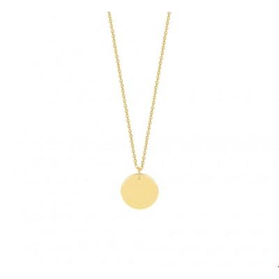 Ketting met rondje goud 41-43-45 cm draaglengte 1 mm breed